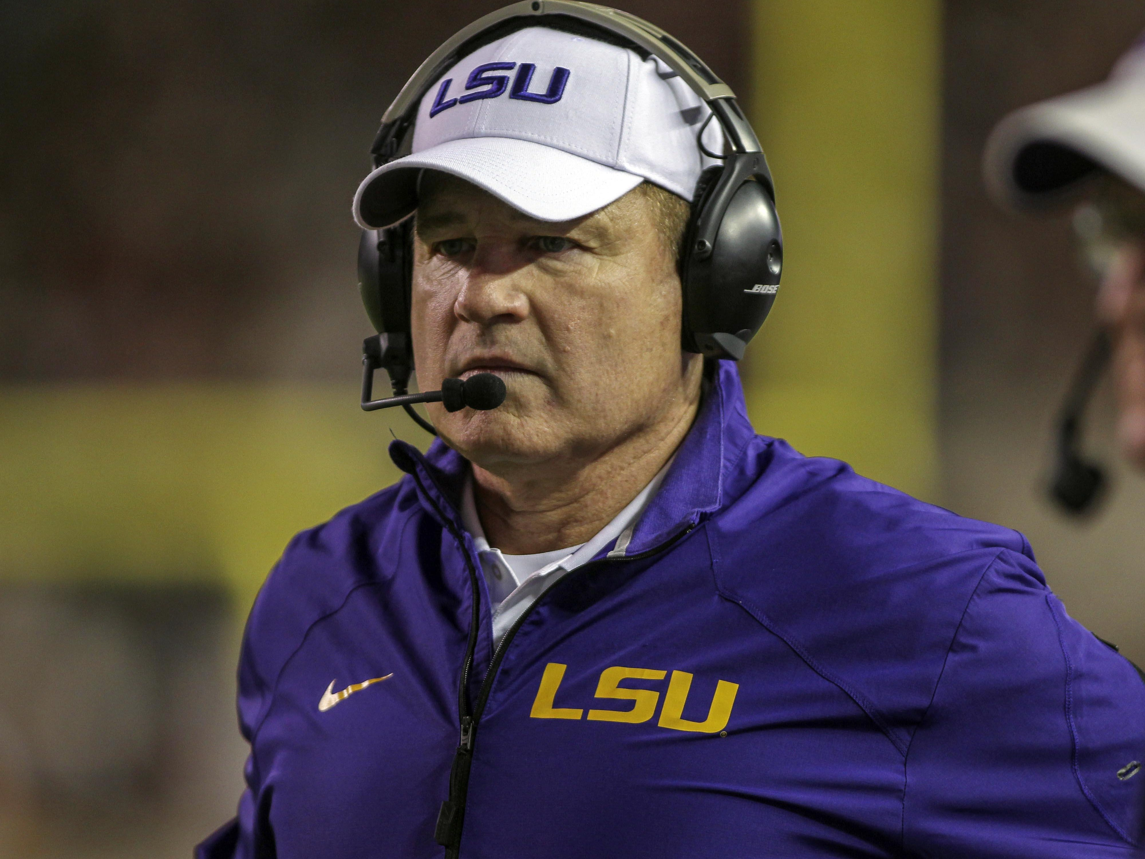 LSU Tigers head coach Les Miles says he won't save plays against McNeese