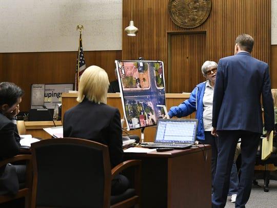Catherine Cardoza testifies during Chaylin Funez's