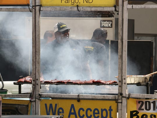 The opening day of the Best in the West Nugget Rib Cook-Off in Sparks on Aug. 30, 2017. Jason Bean/Reno Gazette-Journal- USA TODAY NETWORK