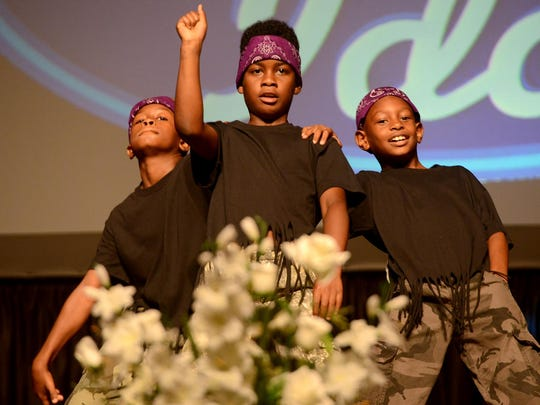 Members of The Hop Team perform special entertainment Thursday during the ninth annual Jackson Idol competition.