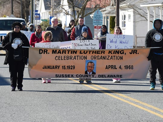 "A cold but beautiful day made for a short parade as the Sussex Martin Luther King ""Quest for Equality"" Parade and Celebration was held in downtown Lewes to honor the Civil Rights leader."