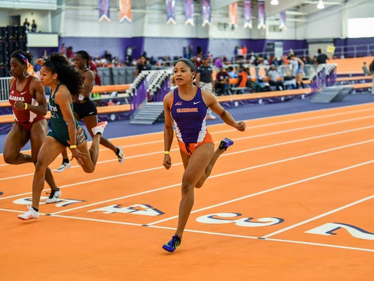 Clemson's Sabria Hadley will compete in the 200-meter