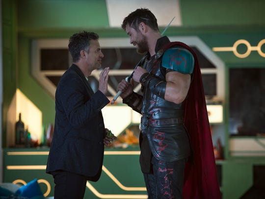 Bruce Banner/Hulk (Mark Ruffalo) and Thor (Chris Hemsworth)