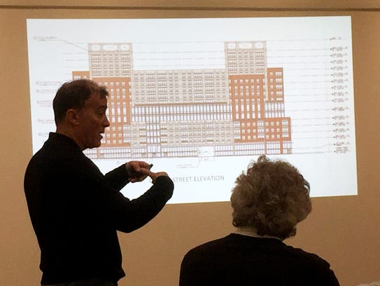 Architect William Fellows describes his proposed stormwater-friendly