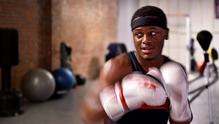 First fight: Amateur boxer prepares for his first match in the ring