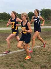 Emma Smith (left) and Isabella Schmenk (center) have