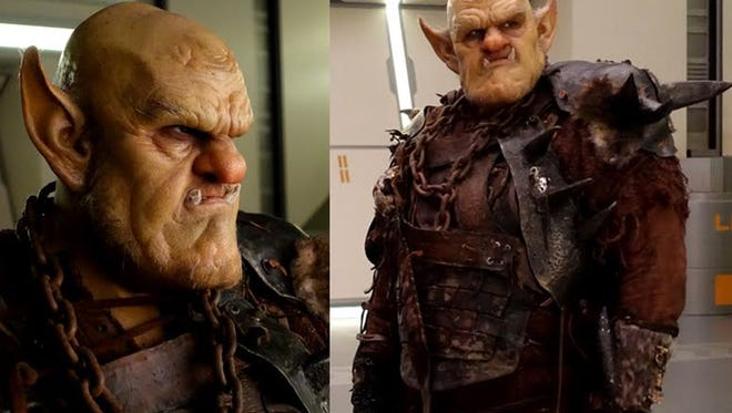"""Memphis-born actor Patrick Cox makes an impressive """"Justin the Ogre"""" in these behind-the-scenes portrait shots taken during production of """"The Orville."""""""