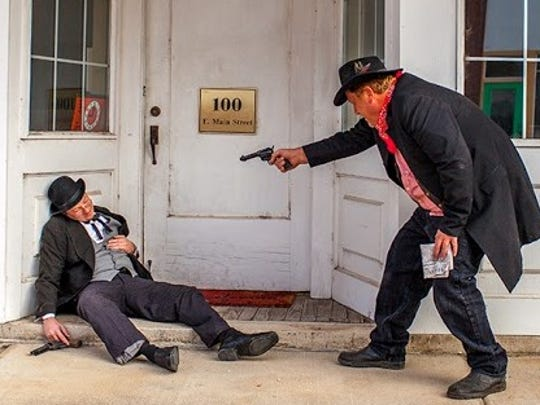 There will be several reenactments in Ash Grove Saturday  including a shootout from 1896. This small town had a  bank robbery in 1933 . Bonnie and Clyde are believed to have robbed the bank, but Pretty Boy Floyd took credit for it, too.