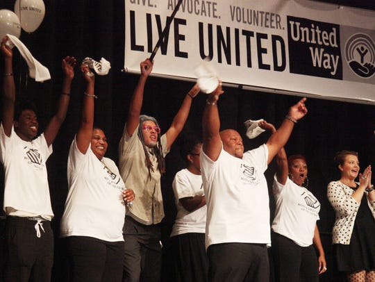 Members of the Boys and Girls Club of Lee County celebrate after winning a lip sync contest during a United Way campaign kick-off last year.  Charities such as the United Way are still looking at a tax law change that could make it more expensive for some people to donate to charitable causes.