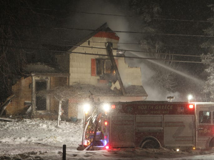 A fire started in the basement of a home on Edgemere Drive in Greece.