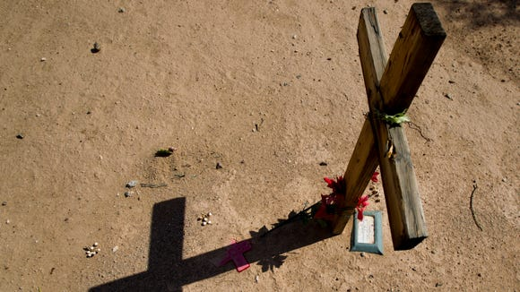 Migrants who died while crossing the border are buried at Pima County Cemetery in Tucson, Az.
