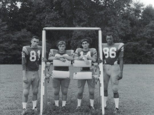 Taylor Stokes, far right, integrated Greenwood Junior High in 1964. He went on to play football for Clarksville High School and was the first black man to play for Vanderbilt University's football team on scholarship.