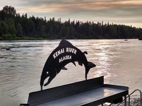 The Kenai River, shown in mid-June, is known for its chinook, sockeye and coho salmon.