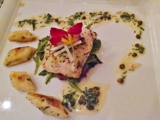 The pairings included this dish of sablefish piccata.
