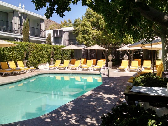 Chi Chi offers poolside dining at the Avalon in Palm Springs. The hotel charges a $40 a day resort fee.