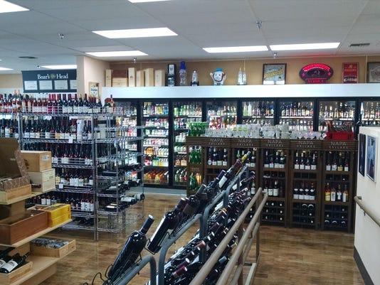 TDS NBR WV Food 1002 Go Deli - wine racks, beer refrigerator