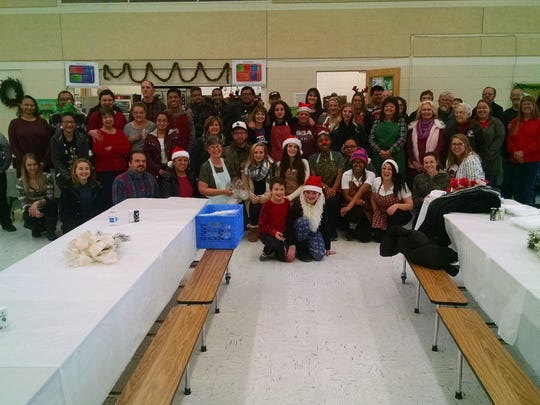 Staff and volunteers served more than 400 meals on Christmas Day Sunday at Yerington Vineyard Fellowship.