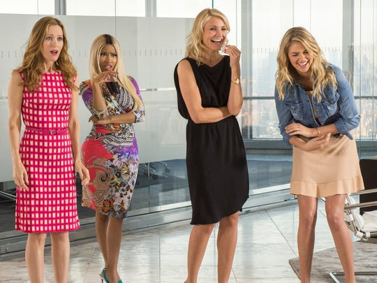 "Leslie Mann, from left, Nicki Minaj, Cameron Diaz and Kate Upton in a scene from ""The Other Woman."""