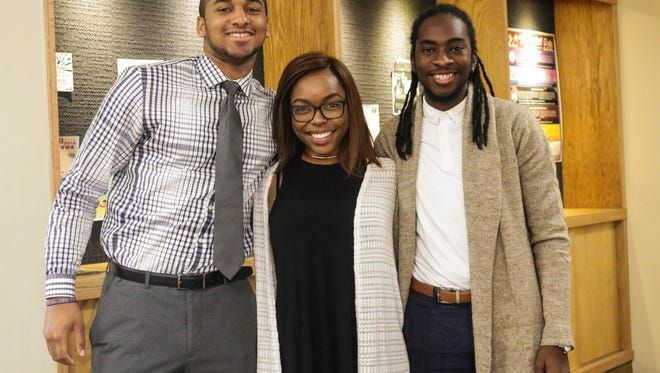 (From left to right) Cameron Floyd, Brianca Wright, and Le'Otis Boswell-Jackson make up the Sons of Sophistication, a local youth mentoring program.
