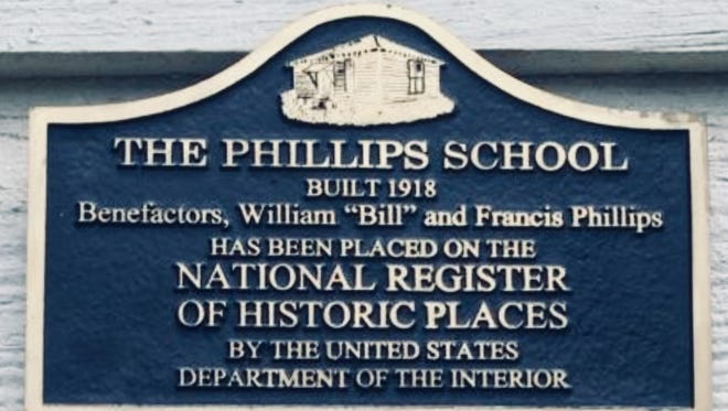 A historic marker for the one-room Phillips School in Winn Parish. The school turns 100 this year.