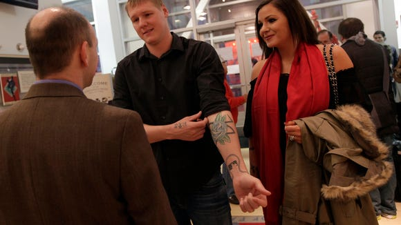 Mat and Dallas Latos in 2012.