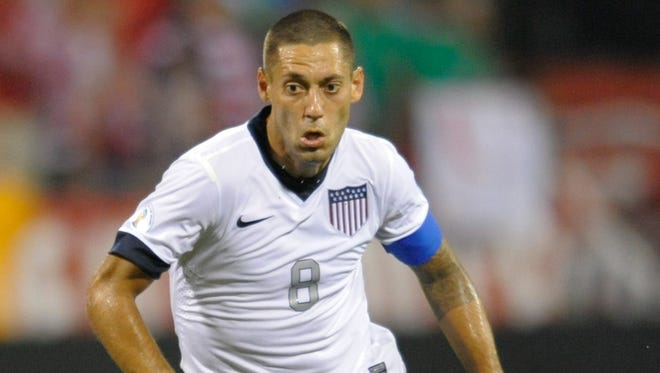 United States forward Clint Dempsey during a game against Mexico at Columbus Crew Stadium.