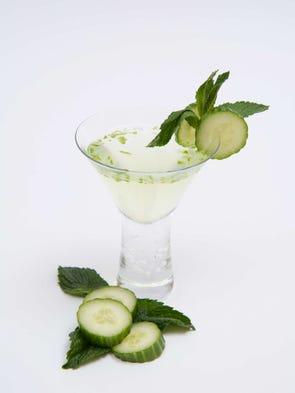 Melon and Cucumber Martini