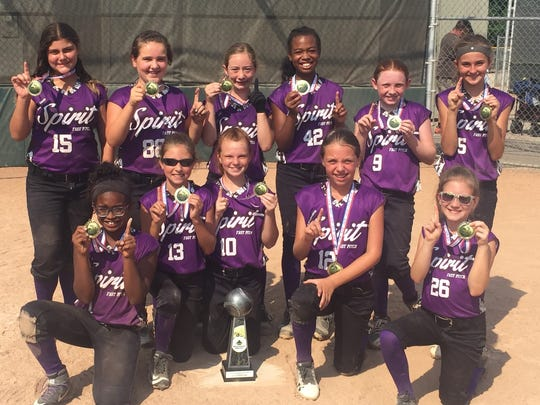 The Plymouth Canton Spirit U-10 softball team won a pair of tournament championships earlier this month.