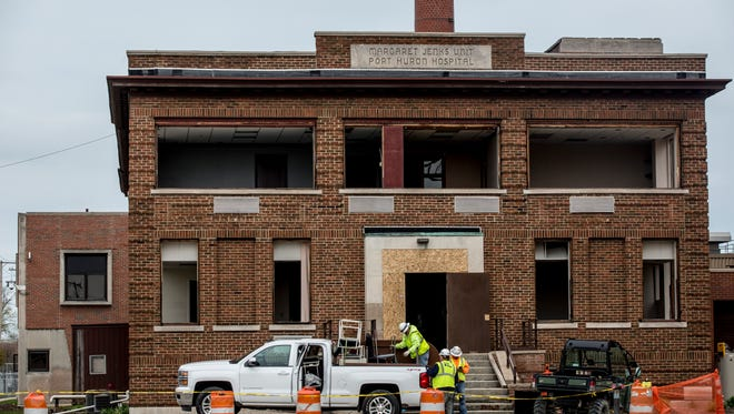 McLaren Port Huron is preparing to raze the old Margaret Jenks Unit, at Stone and Kearney streets.