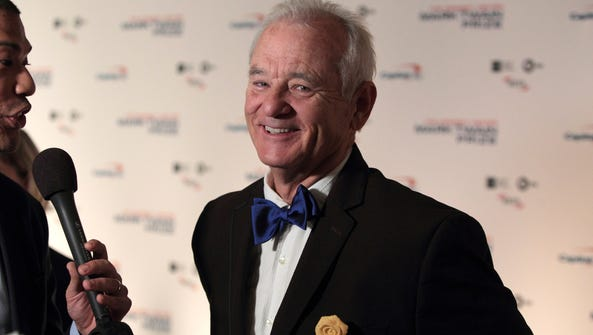 In this Oct. 23, 2016, file photo, Bill Murray arrives