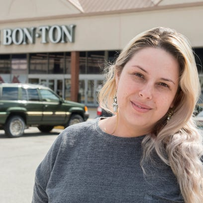 April Sheffer, 32, of Dover, has worked at Bon-Ton