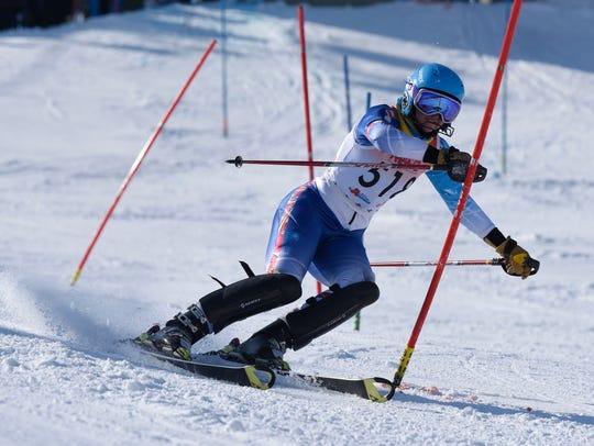Madison Rosiek from Birmingham Marian in the slalom