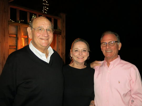 Gordon Boogaerts, Theresa and Peter Ramsey at birthday party.