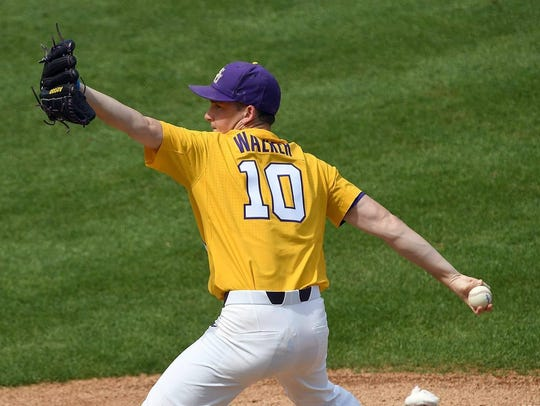 LSU pitcher Eric Walker