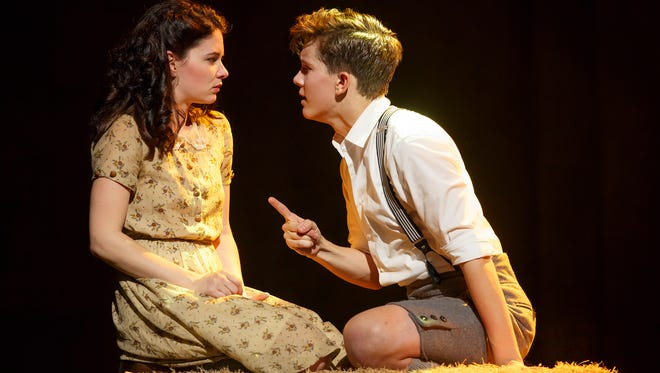 Sandra Mae Frank and Austin P. McKenzie play the romantic leads in a new Broadway revival of 'Spring Awakening.'