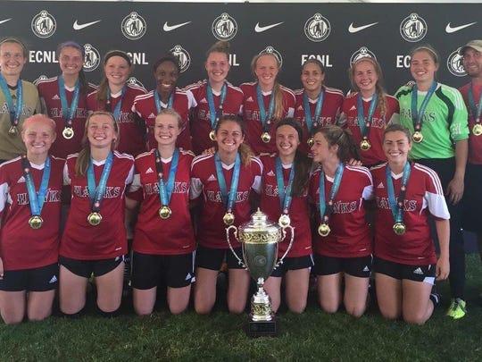 National title: The Michigan Hawks U-18 elite girls