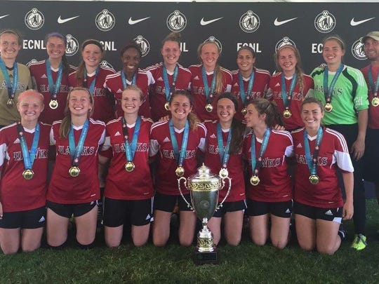 National title: The Michigan Hawks U-18 elite girls
