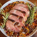 This wood-fired pork recipes from Harvest gives a new meaning to smokey meat goodness