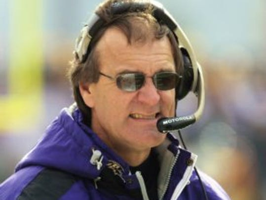 - - Baltimore Ravens head coach Brian Billick reacts in the first half of their AFC divisional playoff game against the Pittsburgh Steelers Sunday, Jan. 20, 2002, in Pittsburgh. (AP Photo/Gary Tramontina)