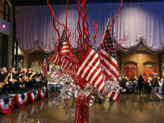 The Bleckley Station is decorated for the GAMAC USO Sweetheart's Dance in downtown Anderson.