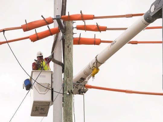 Florida Power & Light Company's line specialist Steve