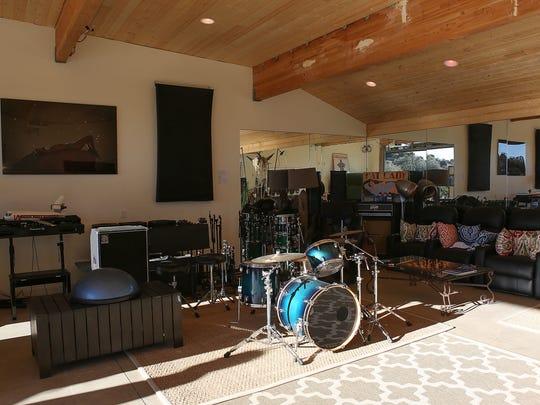 "The high desert recoding studio ""Rancho V"" near Pioneertown."