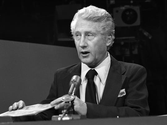 Seen here on 'Face The Nation' in 1976, FBI second-in-command