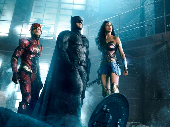 Superheroes of the 'Justice League': Ezra Miller, as