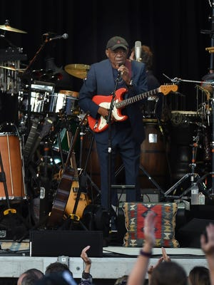 Singer Paul Simon performs at Forest Hills Stadium in the Queens borough of New York on June 30, 2016.