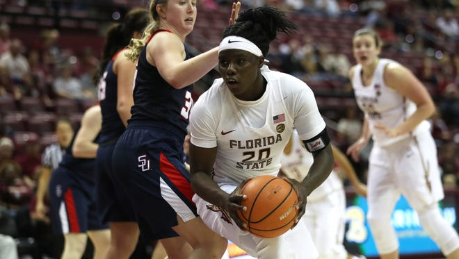 Florida State forward Shakayla Thomas leads the Seminoles in scoring. She'll be tested when FSU faces Arizona State -- the Sun Devils have the best defense in the Pac-12.