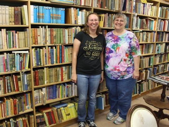 Carrie Deming and Marcia Marsille, who both own bookshops