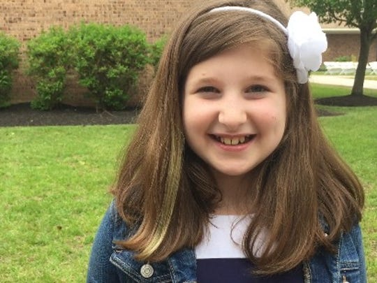 """Gabriella Biello, a 10-year-old Monmouth County resident, called Clinton """"inspirational to us girls."""""""