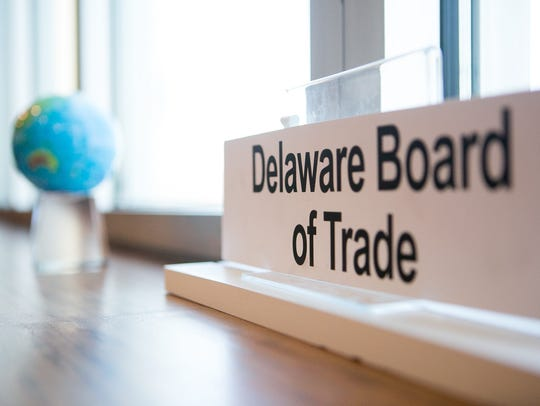 The principals of the Delaware Board of Trade inside
