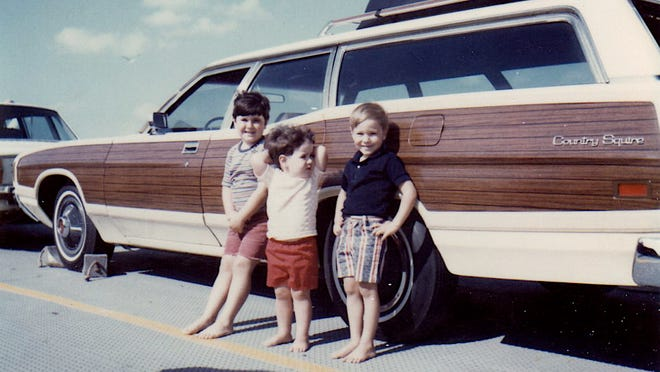 The author (left) and two of his brothers during a family trip on Sept. 10, 1972, to the Outer Banks of North Carolina.